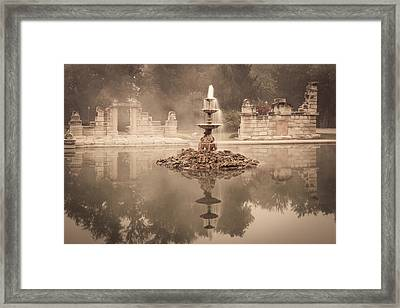 Tower Grove Fountain Framed Print by Scott Rackers