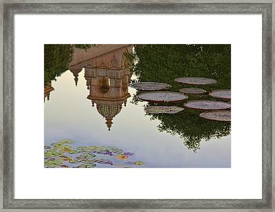 Framed Print featuring the photograph Tower In Lotus Position by Gary Holmes
