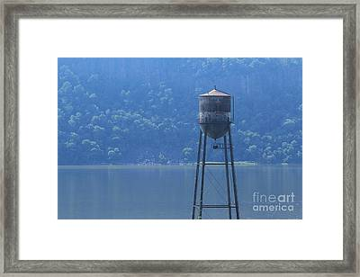 Tower In The Water Framed Print by Lotus
