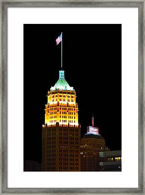 Tower Life Building San Antonio Framed Print by Christine Till