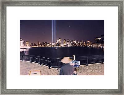 Tower Lights Painter Framed Print by Linda  Parker