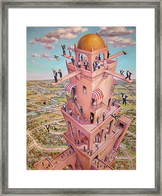 Tower Of Babbit Framed Print by Henry Potwin