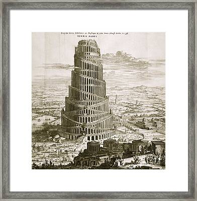 Tower Of Babel, 17th-century Artwork Framed Print by Asian And Middle Eastern Division