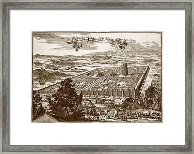 Tower Of Babel Framed Print by Asian And Middle Eastern Division/new York Public Library