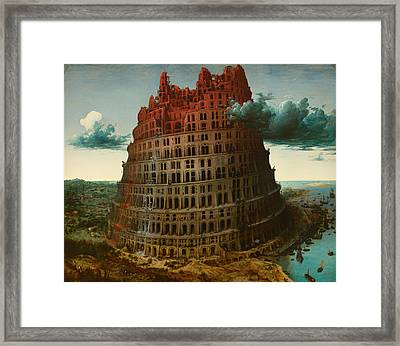 Tower Of Bable Framed Print by Mountain Dreams