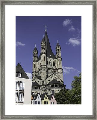 Tower Of Great St Martin Church Cologne Framed Print by Teresa Mucha