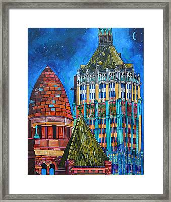 Tower Of Life Building And Courthouse Framed Print by Patti Schermerhorn