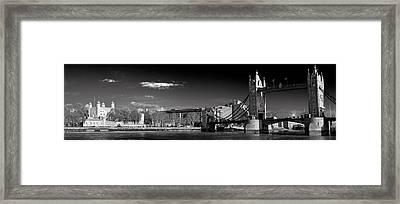 Tower Of London And Tower Bridge Framed Print by Gary Eason
