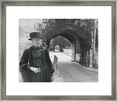 Tower Of London Closed By Beefeater Strike Framed Print by Retro Images Archive