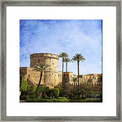 Tower Of Mohamed Ali Citadel In Cairo Framed Print