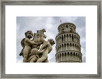 Tower Of Pisa Framed Print