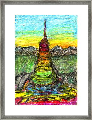 Tower Of The Spirit Framed Print by Yuri Lushnichenko