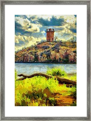 Tower On The Bluff Framed Print by Jeff Kolker