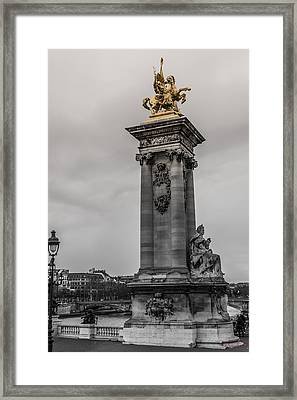 Tower On The River Seine  Framed Print by Howard  Hackney