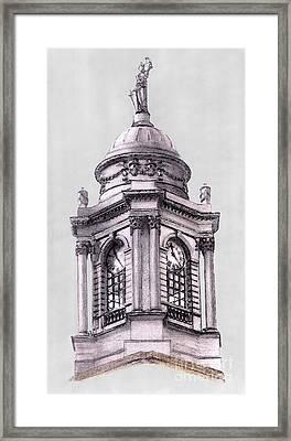 Tower Over City Hall New York City Framed Print by Gerald Blaikie