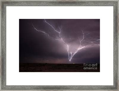 Tower Strike Framed Print