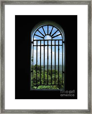 Tower Window Framed Print by Christine Stack