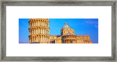 Tower With A Cathedral, Pisa Cathedral Framed Print by Panoramic Images