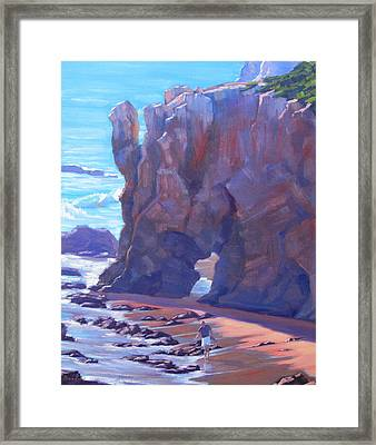 Towering El Matador Plein Air Painting Framed Print by Elena Roche