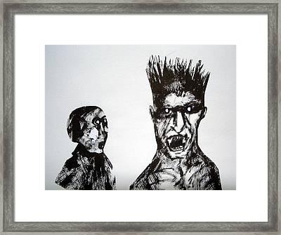 Towering Fury Framed Print by Aquira Kusume