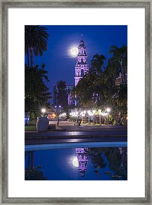 Towering Moon Framed Print