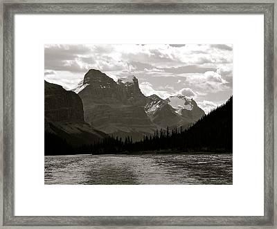 Towering Peaks Framed Print
