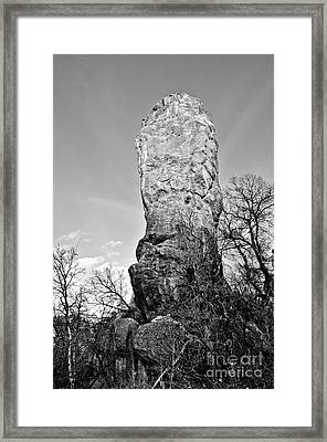 Towering Rock Framed Print