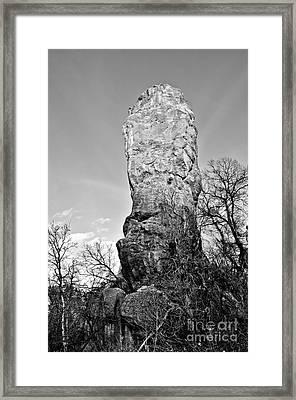 Towering Rock Framed Print