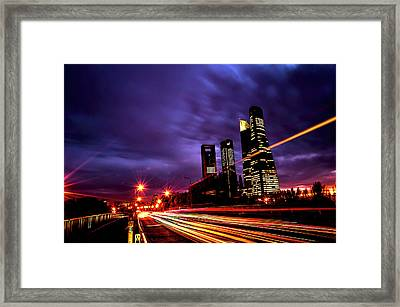 Towers And Skyscrapers Of Madrid Framed Print by Ddanni Hr