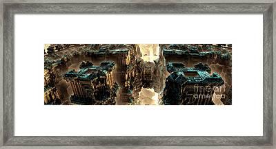Towers Framed Print by Bernard MICHEL