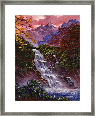 Towers Of Mist Framed Print by David Lloyd Glover