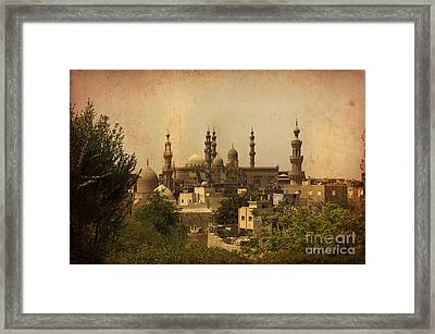 Towers Of Muslims Mosque In Cairo Framed Print