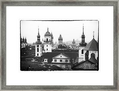 Towers Of Prague Framed Print by John Rizzuto