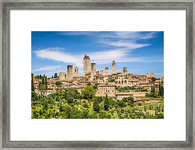 Towers Of San Gimignano Framed Print