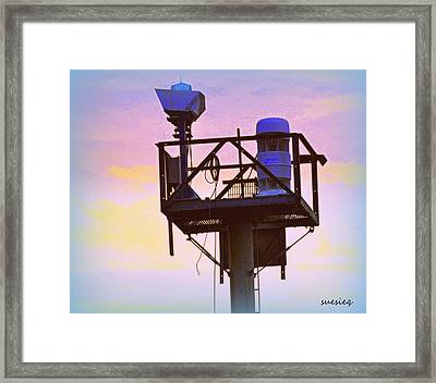 Towers Of The Shore Pt Pleasant Beach Framed Print by Sue Rosen