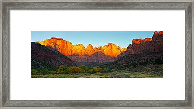 Towers Of The Virgin And The West Framed Print by Panoramic Images