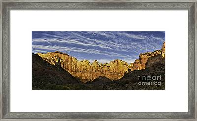 Towers Of The Virgin Framed Print by Jerry Fornarotto