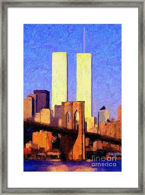 Towers Sunset  Framed Print