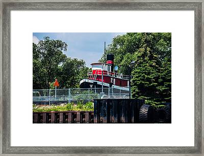 Towing Days Are Over Framed Print