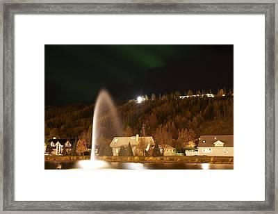 Town Akureyri. Framed Print