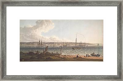 Town And Harbour Of Liverpool Framed Print by British Library