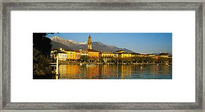 Town At The Waterfront, Ascona, Ticino Framed Print by Panoramic Images