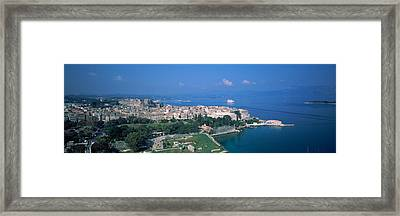 Town At The Waterfront, Corfu, Greece Framed Print by Panoramic Images
