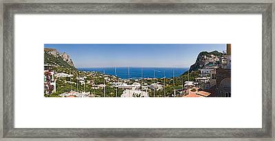 Town At The Waterfront, Marina Grande Framed Print by Panoramic Images