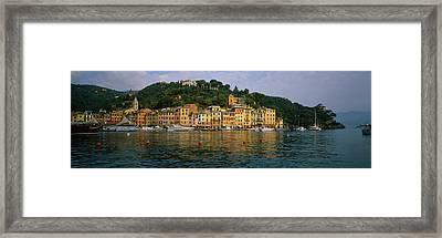 Town At The Waterfront, Portofino, Italy Framed Print by Panoramic Images