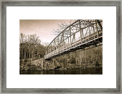 Town Bridge Collinsville Connecticut Framed Print by Brian Caldwell