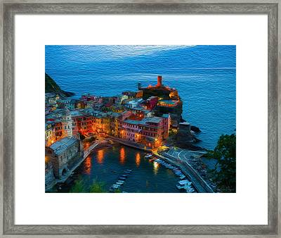 Town By The Bay Framed Print by Carlos Villegas