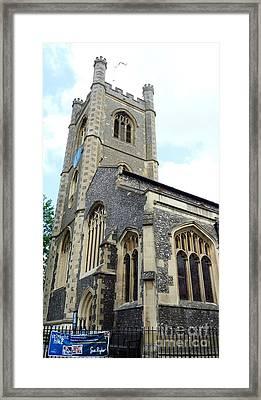 Town Church Framed Print by Julie Koretz