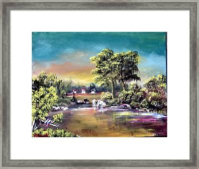 Town Corner Framed Print by M bhatt