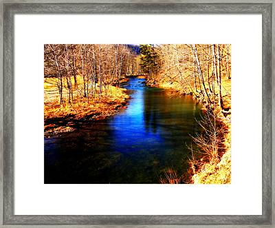 Town Creek Framed Print by Mary Beth Landis